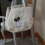 Shopping tote with Maggie Applique