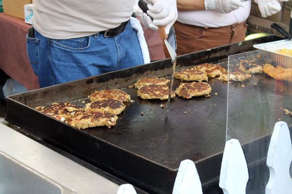 Crab Cakes at the 2013 Homosassa Seafood, Art, and Crafts Festival