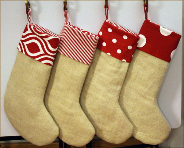 Free Burlap Christmas Stocking Patterns Diy Burlap Christmas Stockings